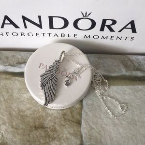 Pandora feathers Necklace sterling silver